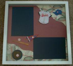 Baseball Shadow  Box  Boy's Room Decor  Scrapbook by KatlinLee123, $24.00