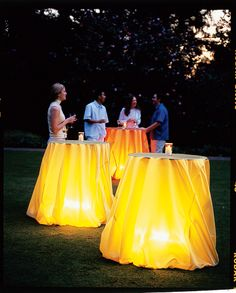 July 4 decorating ideas | Candles, hanging lanterns, chandeliers, and string lights add magic to evenings outside