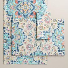 One of my favorite discoveries at WorldMarket.com: Blue Turkish Tile Table Linen Collection
