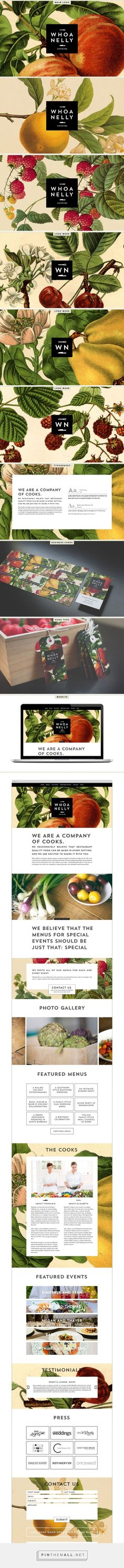 Whoa Nelly Catering Branding & Website by Cody Small | Fivestar Branding Agency – Design and Branding Agency & Curated Inspiration Gallery  #cateringbranding #branding #designinspiration #fivestarbrandingagency #webdesign