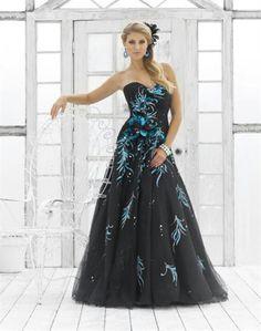 vestido de fiesta pintado a mano!