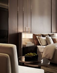 Contemporary luxe hotel style bedroom