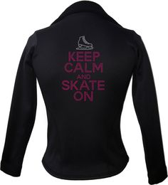 Kami-So Polartec Ice Skating Jacket - Keep Calm and skate on | This beatiful figure skating jacket is made from Polartec Fabric #figureskating #figureskatingstore #figureskates #skating #skater #figureskater #iceskating #iceskater #icedance #ice #skates #pants #iceskates #skatingapparel #skatingjacket #kamiso #figureskatingjacket