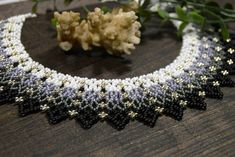 Gradient choker necklace. Made of Czech beads number 10. Own design. Only hand made. Necklace with a smooth transition of colors. Clasp - metal carbine and chain. It can adjust the length. The length of the product - 16.35 in. Width - 1.57 in. Materials: Seed beads Nylon Thread