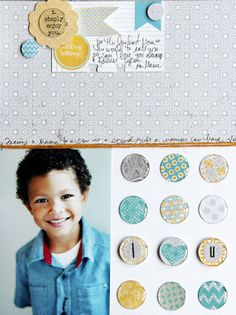 Made with the #epiphanycrafts Shape Studio Tool Round 25 available at #MichaelsStores www.epiphanycrafts.com #lilybee #scrapbook