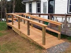 very simple and elegant wheelchair ramp. | clever construction