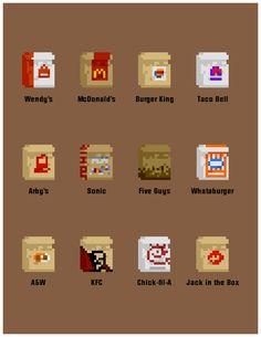 Mark Marianelli pixel and inspiration PD Pixel Art Food, How To Pixel Art, Pixel Art Games, Pixel Pattern, Pattern Art, Game Character Design, Game Design, 8 Bit Art, Pix Art