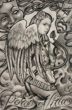 Boog ! The best artist from OakCliff ,Texas..From streets to FAMOUS ...THE 1#ARTIST EVER . superb drawing #chicano #art