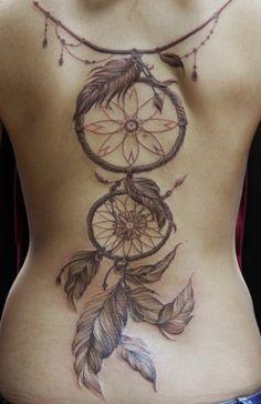 Dream catcher tattoo back tattoo