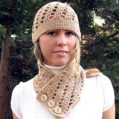 Crochet scarf & hat