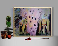 Hope art, Inspired painting Print, colorful, Modern Hope Love Decor Wall Art for Living Room, hope for the world Small Bedroom Ideas For Women, Boho Chic Bedroom, Hope Art, Painting Prints, Art Prints, Deer Art, Acrylic Artwork, Coffee Shop Design, Living Room Art