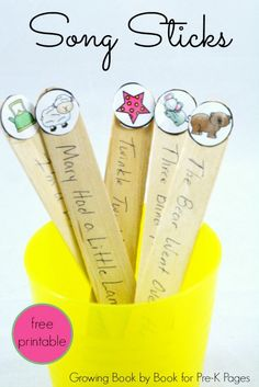 Song Sticks for preschool
