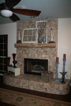 our fireplace remodel is complete!
