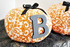 Home / Crafts / #ModPodge Fabric #Pumpkins
