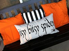 Porch bench cushions!