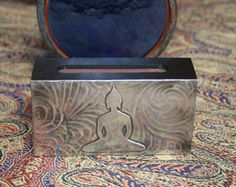 Your place to buy and sell all things handmade Buddha Meditation, Zen Yoga, Media Wall, Hinduism, Buddhism, Wearable Art, Beautiful Homes, Candle, Decorative Boxes