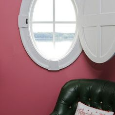 Another porthole window option - love the interior closing door
