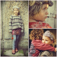 Pleated jumper, Panel Skirt & lace headband from our AW12 collection. #NixieClothing #KidsFashion
