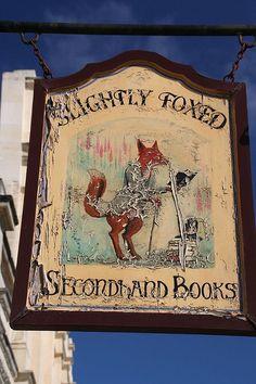 Slightly Foxed on Gloucester Road 123 Gloucester Rd, London +44 20 7370 3503 https://foxedbooks.com