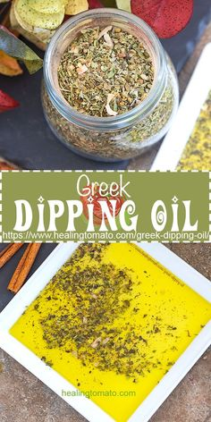 Quick and easy Greek Dipping Oil made with homemade Greek seasoning Quick And Easy Appetizers, Easy Appetizer Recipes, Greek Appetizers, Lunch Recipes, Dinner Recipes, Bread Dipping Oil, Greek Dinners, Greek Seasoning, Homemade Seasonings