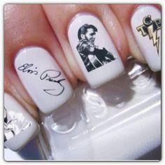 Tcb⚡for Elvis Presley ..Nail art.