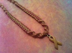 #Pink #ribbon #breast #cancer #hemp #necklace from hemptressdesigns.com - $8.00 #komen