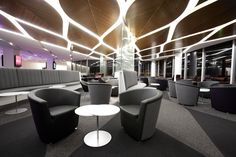 Virgin Australia's Melbourne lounge