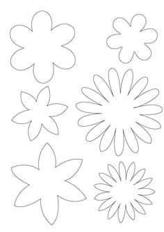 different 6 petals flowers templates and instructions to cut them