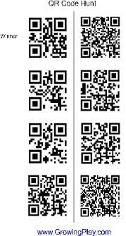 Combine technology with outdoor fun with this QR Code Hunt. This will even get teenagers moving.