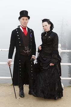 GB. England. Yorkshire. Whitby. Whitby Goth Weekend. Ron & Debbie. 2014.