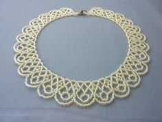 FREE beading pattern for Scalloped Lace necklace, made from only 11/0 seed beads.