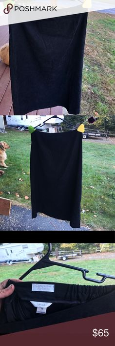 NWOT. Christopher & Banks Long Black Skirt Excellent condition, size 16- tags indicate materials. Christopher & Banks Skirts