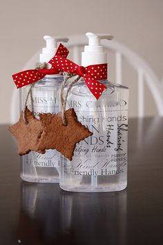 Hand sanitizer--perfect gift for a teacher.  Dress it up with this helping hands label tie and tie a bow and trinket on it. Would be great in a basket of teacher necessities she can use in the class room.