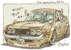 Cartoon Car Drawing, Car Drawings, Kids Cartoon Characters, Cartoon Kids, Tank Girl Comic, Jdm, Car Illustration, Motorcycle Art, Car Sketch