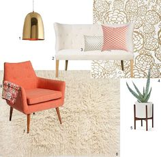 Tangerine & Gold: Living Room Lust | Apartment Therapy