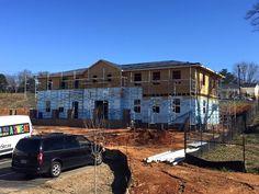 Great progress being made on the Jimmy Johnson Volunteer Lodge! #habitatforsyth #wsnc