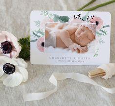 Babykarte Lisbeth - Karte mit Foto auf hochwertigem Kreativkarton.