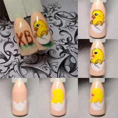 Дизайн ногтей тут! ♥Фото ♥Видео ♥Уроки маникюра Easter Nail Designs, Easter Nail Art, Nail Art Designs, Love Nails, My Nails, Anime Nails, Animal Nail Art, Disney Nails, Butterfly Flowers