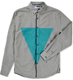 VOLKLORE  Grey Volker Shirt $65