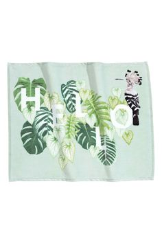 Bath mat in velour with a print motif on the front and cotton terry back. Copper Wire Basket, Coffee Table Vignettes, Rainforest Theme, Leaf Curtains, Tropical Bathroom, Year Of The Monkey, Cactus Decor, H&m Home, Spring Home