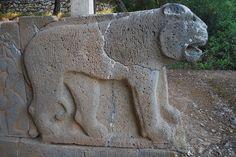 Hittite lion relief
