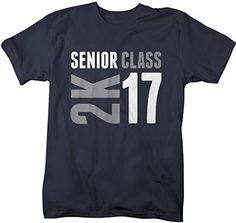 Show off some senior class pride in this modern t-shirt for the graduating senior of 2017. The design features 2K and 16 next to it in a 2 color print. A great gift for the grad! The t-shirt reads 'Se