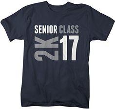 Shirts By Sarah Men's Senior Class T-Shirt 2K 17 2017 Seniors Shirt