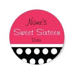 Hip Dots Sweet Sixteen Sticker