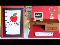 Diy Teacher's day card ideas/ handmade popup card for teacher/popup greeting cards/thank you card /greeting card for teacher /table popup card Happy Teachers Day Wishes, Greeting Cards For Teachers, Teachers Day Greetings, Teachers Day Gifts, Mothers Day Card Template, Printable Valentines Day Cards, Homemade Fathers Day Card, Fathers Day Crafts, Teacher Appreciation Cards