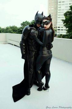 #Cosplay #Batman: Dark Knight and #Catwoman