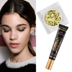 The Trend: Glitter For Grown-Ups - Who said glitter was just a middle-school staple? Backstage at Tommy Hilfiger, a dose of sparkle never looked more sophisticated.How To Get It:Apply a glitter-specific eye-shadow primer on the entire lid, but don't go past the crease. Dab on a light layer of gold shimmer and finishwith dewy skin and glossy lips.
