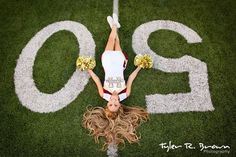 Lie out on the football field if that�s where you really thrive. | 47 Brilliant Tips To Getting An Amazing Senior Portrait