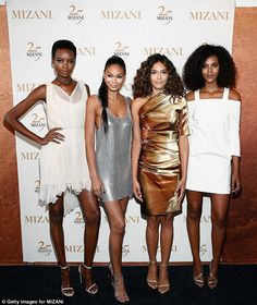 Hair icons:The Victoria's Secret beauty was joined at the celebratory event by fellow models Maria Borges, Heidy de la Rosa and Grace Mahary