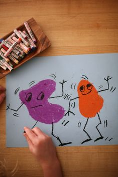art lesson for kids: how to make organic shapes wiggle and dance
